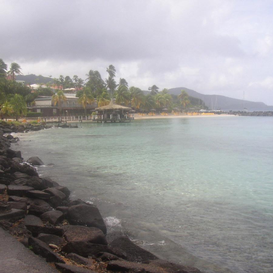 Le bord de mer aux Trois Ilets à La Martinique